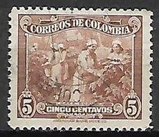 COLOMBIE.    -     Récolte Du Café Suave    -     Oblitéré - Vegetales