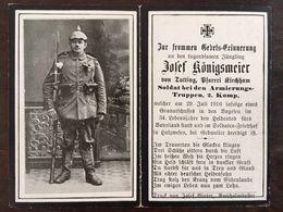 Sterbebild Wk1 Ww1 Bidprentje Avis Décès Deathcard CERNAY Block 5 Grab 1230 HOLZWESEN GEBWEILER Aus Tutting - 1914-18