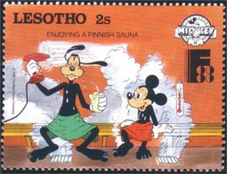 570 Lesotho Disney Sauna Steam Vapeur MNH ** Neuf SC (LES-16d) - Bäderwesen