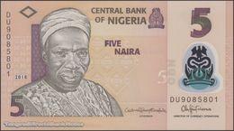 TWN - NIGERIA 38i - 5 Naira 2018 Polymer - Prefix DU UNC - Nigeria
