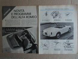 - ARTICOLO ALFA ROMEO 2000 SPIDER / GIULIETTA ZAGATO - MICHELOTTI  - 1961 - Reclame