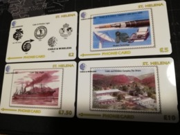 ST . HELENA   GPT  4 CARDS   St HELENA  327CSHA,CSHB,CSHC,CSHD. Serie 4x Cards  MINT New  Logo C&W **2938** - Sainte-Hélène