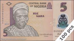 TWN - NIGERIA 38i - 5 Naira 2018 DEALERS LOT X 100 - Polymer - Prefix DU UNC - Nigeria