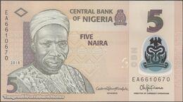 TWN - NIGERIA 38i - 5 Naira 2018 Polymer - Prefix EA UNC - Nigeria
