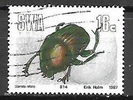 RSA   /  AFRIQUE  DU  SUD     -    1987 .  SCARABEE   /   GARRETA  NITENS     -     Oblitéré - África Del Sur (1961-...)