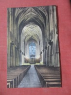 Hand Colored---- Interior Of Chapel  ---------- Duke University North Carolina > Durham > Ref 4270 - Durham