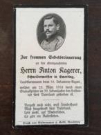 Sterbebild Wk1 Ww1 Bidprentje Avis Décès Deathcard IR16 LAFRIMBOLLE Block 1 Grab 304 Aus Emerting - 1914-18