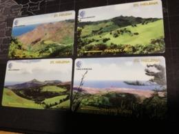 ST . HELENA  GPT 4 CARDS   St HELENA  325CSHA,CSHB,CSHC,CSHD  Serie 4x Cards  MINT New  Logo C&W** 2939** - Sainte-Hélène