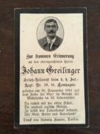 Sterbebild Wk1 Ww1 Bidprentje Avis Décès Deathcard KUK IR59 10 September 1914 MICHALOCHA - 1914-18
