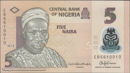 TWN - NIGERIA 38i - 5 Naira 2018 Polymer - Prefix EB UNC - Nigeria