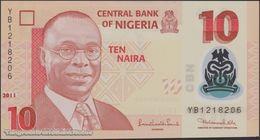 TWN - NIGERIA 39c - 10 Naira 2011 Polymer - Prefix YB UNC - Nigeria