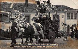 ANGRA Do HEROISMO PORTUGAL-CARRO De BOIS-FESTO Do ESPIRITO SANTO-OXES CART PHOTO POSTCARD 48041 - Açores