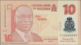TWN - NIGERIA 39i2 - 10 Naira 2018 Polymer - Prefix FJ UNC - Nigeria