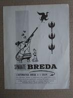 - ADVERTISING PUBBLICITA'  BREDA FUCILE AUTOMATICO A 2 COLPI - 1961 - Reclame