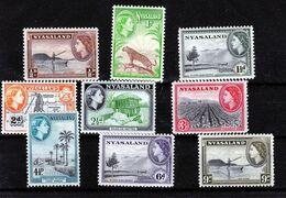 Nyassaland  - Mint With Traces Of Hinge Remains, QE II, Part Set, 1953 - Nyasaland (1907-1953)