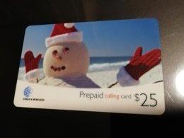 BERMUDA  $25 CHRISTMAS SNOWMAN  Fine USED New  Logo C&W  **2940** - Bermude