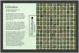 Gibraltar 2015 100 Years Of Stamps Mi Bloc 120 MNH(**) - Gibraltar