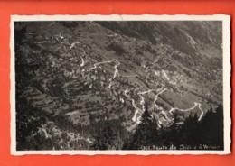 AA-43 Bagnes, Route De Chable à Verbier, Circulé Sous Enveloppe - VS Wallis