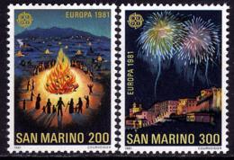 Saint Marin - Europa CEPT 1981 - Yvert Nr. 1024/1025 - Michel Nr. 1225/1226  ** - Europa-CEPT