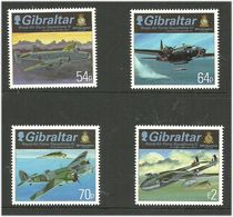 Gibraltar 2015 Royal Air Force (RAF) (IV) Squadron: Aircraft And Badge Mi 1693- 1696  MNH(**) - Gibraltar