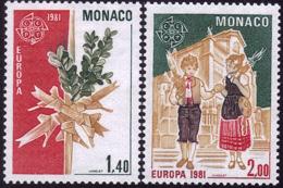 Monaco - Europa CEPT 1981 - Yvert Nr. 1273/1274 - Michel Nr. 1473/1474  ** - Europa-CEPT