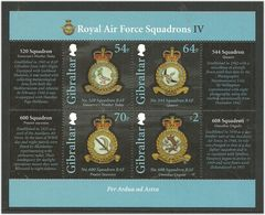Gibraltar 2015 Royal Air Force (RAF) (IV) Squadron: Aircraft And Badge Mi Bloc 122  MNH(**) - Gibraltar