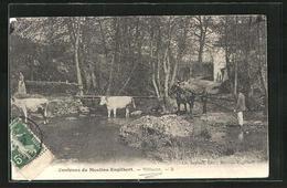 CPA Moulins-Engilbert, Villacot - Moulin Engilbert