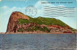Gibraltar From The Spanish Coast 1959 - Gibraltar