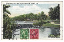 CLB087 -  SCENE ON HUGHES LAKE THIRD WARD PARK PASSAIC NEW JERSEY 1926 - Etats-Unis