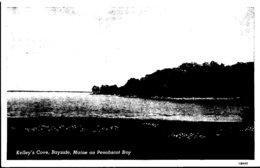Maine Bayside Kelley's Cove On Penobscot Bay Curteich - Etats-Unis