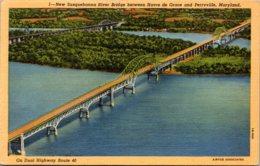 Maryland New Susquehanna River Bridge Between Havre De Grace And Perryville Curteich - Etats-Unis
