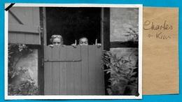 """PHOTO Photographie Amateur ENFANTS """"Charles"""" & """"Kim"""" ** Snapshot - Personnes Identifiées"""