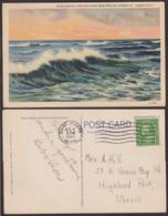 Postcard - USA - 1937 - Overlooking Lake Michigan From Benton Harbor - St. Joseph - Circulee - A1RR2 - Etats-Unis