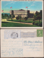 Postcard - USA - 1937 - Aquarium And Battery Park - Circulee - A1RR2 - Autres Monuments, édifices