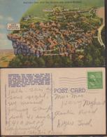 Postcard - USA - 1951 - Bird's Eye - Rock City Gardens, Atop Lookout Mountain - Circulee - A1RR2 - Etats-Unis