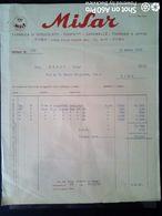 FATTURA - MISAR, FABBRICA DI CIOCCOLATA - ACQUISTO UOVA PASQUALI  - ROMA 1955 - Italy