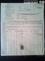 FATTURA - S.E.I.V.I. - FORNITURA VERMOUTH GRAN TORINO ROSSO - TORINO 1955 - Italy