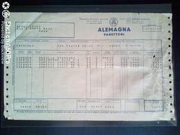 FATTURA COMMERCIALE - ALEMAGNA PANETTONI (FORNITURA CAMPANE E PESCI DI CIOCCOLATO) - 1955 - Italy