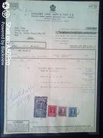 FATTURA DISTILLERIE LUIGI SARTI & FIGLI (FORNITURA COGNAC RISERVA DELLA RINASCITA) - 1955 - Italy