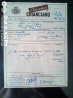 FATTURA RABARBARO DI CHIANCIANO - 1955 - Italy