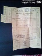 BOLLETTA DI PAGAMENTO DI TRASPORTO SCALO OSTIENSE - DITTA AVANDERO - 1956 - Italy