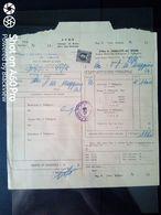 BOLLETTA DITTA A. ZARLATTI DE' ROSSI - FORNITURA ARANCIATA S. PELLEGRINO - ROMA 1955 - Italy