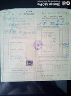 BOLLETTA DITTA A. ZARLATTI DE' ROSSI - FORNITURA RABARBARO S. PELLEGRINO - ROMA 1955 - Italy