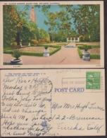 Postcard - USA - 1951 - Alcazar Gardens - Balboa Park - Circulee - A1RR2 - San Diego