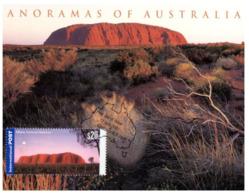(H 2) Australia - Maxicard / Carte Maxium - Panorama Of Australia - Uluru (Ayers Rock) With $ 20.00 Stamp - Cartas Máxima