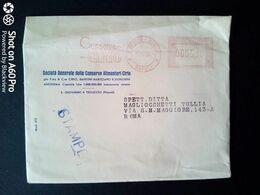 BUSTA PUBBLICITARIA STAMPE - CONSERVE CIRIO, S. GIOVANNI A TEDUCCIO (NAPOLI) - ANNULLO MECCANICO ROSSO - 1956 - Italy