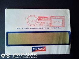 BUSTA PUBBLICITARIA-COMMERCIALE - CINZANO, TORINO - ANNULLO MECCANICO ROSSO -1956 - Italy