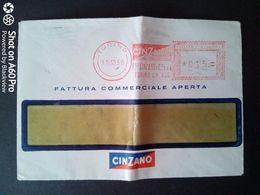 BUSTA PUBBLICITARIA-COMMERCIALE - CINZANO, TORINO - ANNULLO MECCANICO ROSSO 1956 - Italy