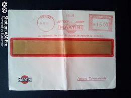 BUSTA PUBBLICITARIA-COMMERCIALE - MARTINI (VERMOUTH), TORINO - ANNULLO MECCANICO ROSSO - 1956 - Italy