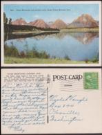 Postcard - USA - 1947 - Teton Mountains And Jackson Lake - Grand Teton National Park - Circulee - A1RR2 - Etats-Unis